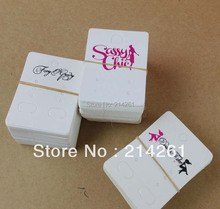 wholesale Shipping by Fedex 6.5x5cm  customize logo earring  card & hang tag customize logo cards for jewelry and garment