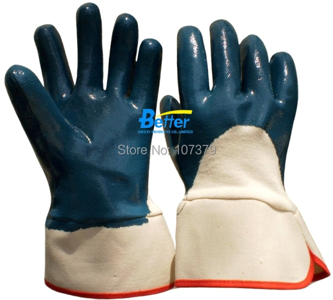 Work Gloves Heavy Duty Cotton Jersey With Nitrile Coated Safety Glove<br><br>Aliexpress
