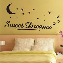 New Promotions Sweet Dreams Star Wall Sticker Quote Decal Removable Sticker Decor Vinyl Art
