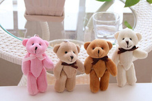 SIZE 10CM Joint Teddy Bear Mix Colors , 20pcs Plush TOY DOLL ; Plush Stuffed TOY Wedding Gift Bouquet Decor DOLL TOY DOLL(China)