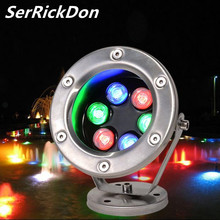 RGB LED Underwater Light 3W 6W 9W 12W Pool Lamp Swimming Underwater Boat Lamp Vijver Verlichting IP68 LED Pool Pond Lights