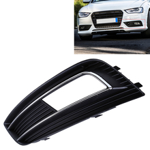 Car Decoration Auto Car Cover Right/Left Side Lower Bumper Grille Fog Light Grills For Audi A4 B8 Car Accessories(China)
