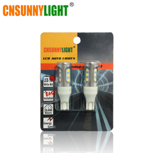 CNSUNNYLIGHT Car LED Bulbs Canbus T15 W16W T20 7440 7443 1156 S25 1157 T25 3156 3157 5202 H16 PY24W Error Free Reverse Lighting(China)