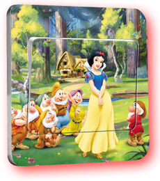 Free Shipping Kids Room Decorative Switch Stickers Princess Wall Stickers Home Decoration AF121,1(China (Mainland))