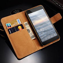 Wallet Filp PU Leather Case For Microsoft Nokia Lumia 640 Cover + Hard Plastic Back For Lumia640 Phone Bag Black Coque
