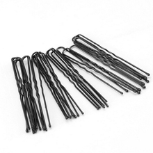 6cm Black Plated Thin U Shape Hair Bobby Pin Black Metal Clips Barrette 2017 New arrival Hot sale!(China)