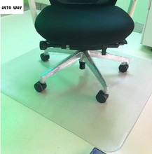 Transparent wood floor protection mat PVC Plastic floor carpet computer chair mats plastic round carpet custom rug 1.5mm thick(China)