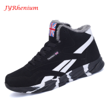 JYRhenium New Winter Men's Boots Warm Wool Sneakers Outdoor Unisex Athletic Sport Shoes Comfortable Running Shoes Sales