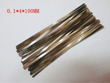 500Pcs 0.1*4*100mm Nickel Plated Steel Strap Strip Sheets for Battery Spot Welding Machine Welder Equipment
