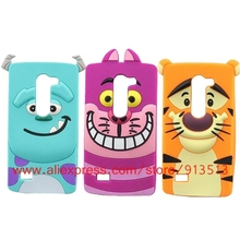 For LG Leon Case Cartoon Sulley Tiger Cheshire Cat Design Silicone Cell Phone Soft Cases For LG C50(China)