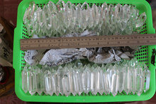 NATURAL CLEAR QUARTZ CRYSTAL DOUBLE TERMINATE POINTS WAND POLISHED HEALING.Wholesale Price