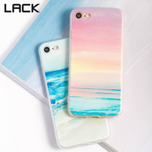 LACK Fashion Ocean Landscape Scenery Case For iphone 6 Colorful Geometry Gradient Phone Cases For iphone6 6S PLus Back Cover(China)