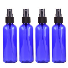 4PC/set 100ml Blue Empty Spray Bottle Plastic Sprayer Bottles Perfume Container Refillable Cosmetic Atomizer For Tarvel Gift(China)