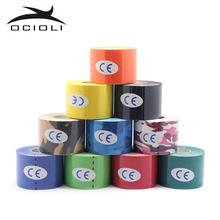 Quality 5cm*5m Elastic Cotton Roll Adhesive Kinesio Tape Sports Injury Muscle Strain Protection Tapes First Aid Bandage Support(China)