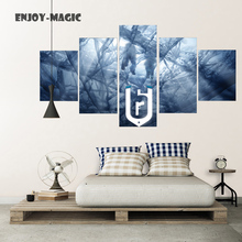 Home Decor Canvas Poster rainbow six siege Painting boat ship ice Wall Art Modern 5 Piece Oil Painting Picture Panel Print A-035(China)