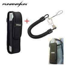 XTAR T220 Molle Flashlight Pouch & Retractable Plastic Spring Elastic Rope Tactical Hunting Camping Security Gear Tool Kit