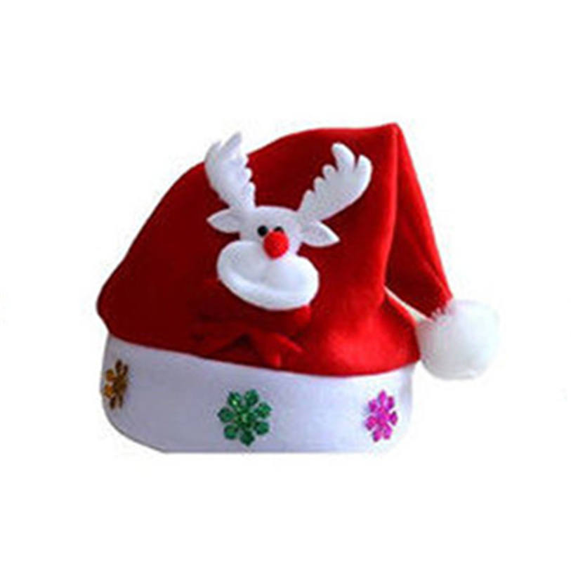 New Cute Christmas Hat LED Caps Snowman Elk Hat for Children New Year Xmas Kids Gift Home Decorations Christmas Ornaments noJY3 (4)