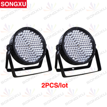 SONGXU 2pcs/lot 186X10MM Great Show Effect RGBW LED Plastic Par Light LED PAR 64 RGBW Par CAN Stage Equipments/SX-PL18610
