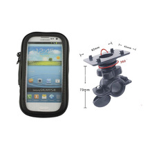 Motorcycle Bicycle Mobile Phone Holder with Waterproof Bag case for iphone 8 7 6 6S for Galaxy S3 S4 A3 soporte movil moto(China)