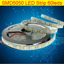 LED Strip 5050 DC12V Flexible LED Light 60 LED/m White / Warm White led rope Cold White Red / Greed / Blue / Yellow / RGB 5m/lot