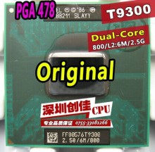 original intel CPU laptop Core 2 Duo T9300 CPU 6M Cache/2.5GHz/800/Dual-Core Socket 479Laptop processor for GM45 PM45
