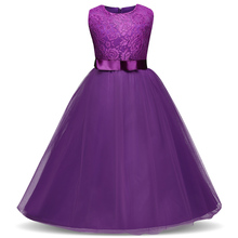 Teenage Girl Special Events Occasion Dress Girl Ceremony Robe Kids Lace Princess Costume For Teen Girls Plus Size Children Frock