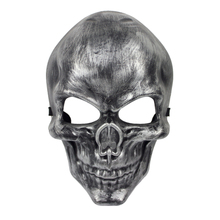 Tricky Skull Mask Cosplay Full Face Halloween Party Operations Protective Masks Retro silver Pattern(China)