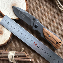 X35 Folding Knife 3Cr13Mov Blade Wood Handle 15cm Outdoor Survival Camping Mini Pocket Knife