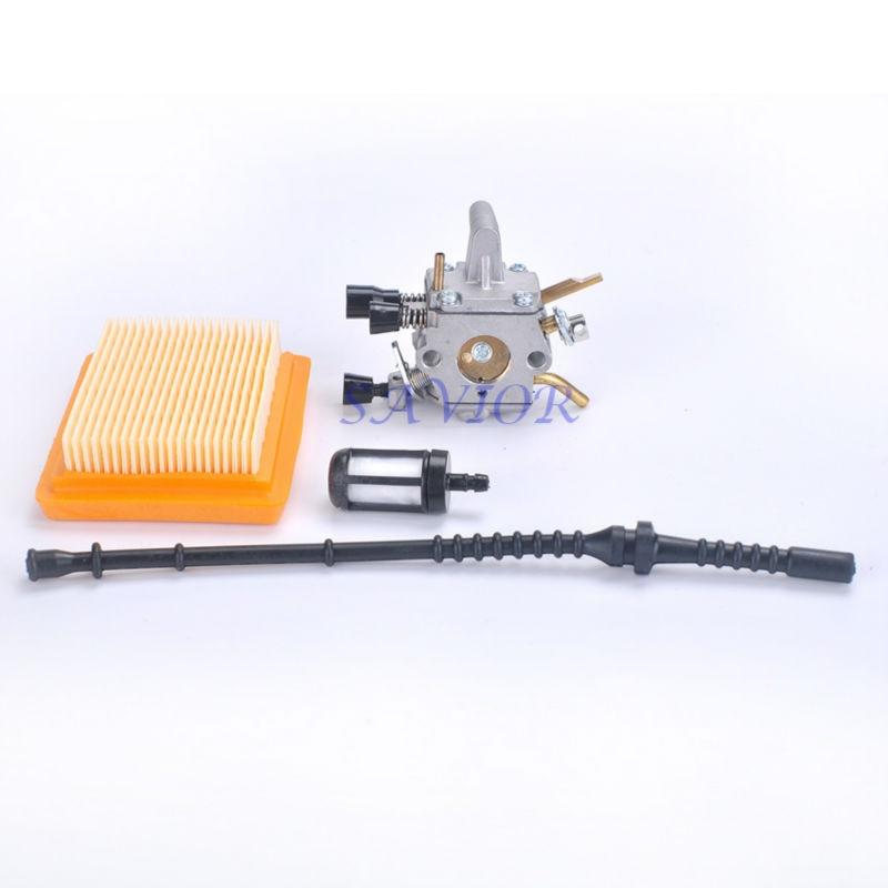 Carburetor + Air Filter + Fuel Line / Filter for STIHL FS120 FS200 FS250 Carburador String Trimmer<br><br>Aliexpress