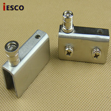 Small stainless steel glass cabinet folder glass hinge hinge glass glass clip for each drawing