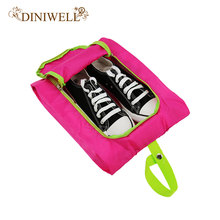 DINIWELL 1PCS Waterproof Travel Outdoor Folding Home Tote Toiletries Laundry Nylon  Shoe Pouch Storage Bag Organizer container