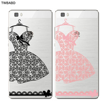 Lace Dress Wedding Gift Fasion Accessory Phone Cases for Huawei P8 P8 Lite Thin Silicone TPU Cover