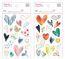 korea epoxy heart shapes sticker for scrapbooking,diary,album,funny decorative scrapbooking sticker(China)