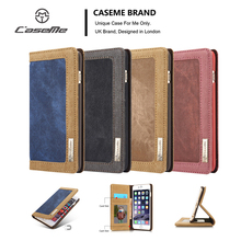 CaseMe Case Cover For iPhone 5 5S SE 6 7 8 Plus Retro Leisure Canvas Denim WateProof Wallet Stand Magnetic Flip Phone Case(China)
