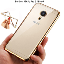 Ultra Thin Rose Gold Plating Crystal Clear TPU Case for MEIZU Pro 5 6 6S Soft Back Cover for Meizu MX5 Pro 5 Pro6 Silicone Cases