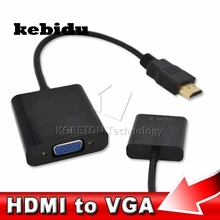 kebidu HDMI Male to VGA Female Cable Adapter Converter Built-in Chipset Up to 1080P Convert for HDTV Laptop Projector Device(China)