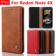 Buy Flip Case Cover Xiaomi Redmi Note 4X 5.5 inch Retro Leather Funda Wallet Flip Case Redmi Note 4X 5.5 inch Conque for $6.16 in AliExpress store