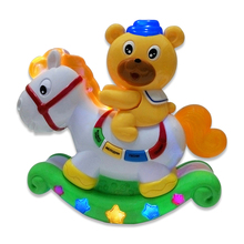 Just Sell Here!! High Quality Russian Musical Horse, With Music And Light, Educational Toys, Baby Item, Best Gifts To Children(China)