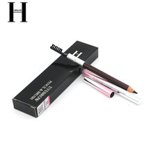 HENLICS New Waterproof 2 Colors Eye Brow Eyeliner Eyebrow Pen Pencil with Brush Makeup Cosmetics Tools(China)
