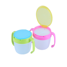 1 PC Candy Color Baby Food Storage Bowls Children Kids Food Snacks Candy Biscuit Anti spill Storage Holder Dishes Bowls With Han(China)