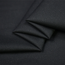 Fashion black 80% silk spun blended 20% wool fabric for suits and coat 42momme 150cm width by yard,SFF037