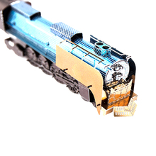 3D Metal colored Train Puzzle Children Puzzle Model Adult Puzzle Train Locomotive kids Toys WJ433
