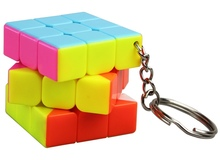 3*3*3 No stickers Mini KeyChain Square Magic Cube Educational Decompression Rubik's Cube Puzzle Toy for Children Gift