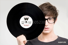 1Piece Round Retro Record Placemats Vinyl Silicone Record Table Mat
