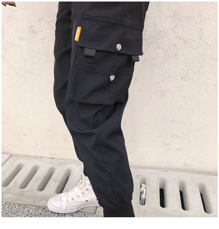Hot Big Pockets Cargo pants women High Waist Loose Streetwear pants Baggy Tactical Trouser hip hop high quality joggers pants 7