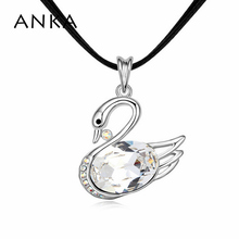 2017 Sale Women Jewelry Colar Collares Mujer Valentine's Day Swan Necklace Crystals from SWAROVSKI #102963