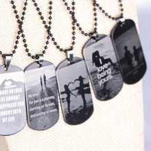 Valentine's Day Gift Men Jewelry Military Army Identity Printing Pendant Necklaces And Key Chains For Lovers 5 Styles