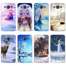 Winter in Central Park Animated Winter Clear Case Cover Coque Shell for Samsung Galaxy J1 J2 J3 J5 J7 2016 2017 Emerge(China)