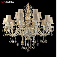 Crystal Light Chandelier Modern Living Room Villa Chandelier crystal Lighting Crystal Chandeliers Home Lighting Indoor Lamp K9(China)