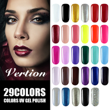 Verntion  Vogue colors Gel Polish Nail Set Semi permanent Nail Gel Varnish UV Led Soak Off lot Hybrid Lacquer Gel Polish